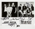 Music Memorabilia:Autographs and Signed Items, Stevie Ray Vaughan And Double Trouble/Jeff Beck Signed Promo Photo(1989). ...