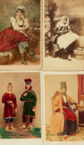 Photography:CDVs, [Early Photography, Native Costume]. Group of Four Cartes De Visites Depicting Native Costume, Including Three with Hand-Color...