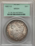 Morgan Dollars: , 1887-O $1 MS64 PCGS. PCGS Population (2648/338). NGC Census: (1840/87). Mintage: 11,550,000. Numismedia Wsl. Price for prob...
