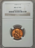 Lincoln Cents: , 1939-S 1C MS67 Red NGC. NGC Census: (921/0). PCGS Population (343/0). Mintage: 52,070,000. Numismedia Wsl. Price for proble...