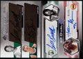 Basketball Cards:Lots, Bill Russell Signed Basketball Cards Lot (2)....