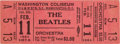 Music Memorabilia:Tickets, Beatles Unused Ticket From First US Concert, Washington DC (1964)....
