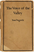 Books:Literature Pre-1900, [Poetry]. Yone Noguchi. The Voice of the Valley. Introduction by Charles Warren Stoddard. San Francisco: Wil...