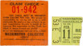 Music Memorabilia:Tickets, Beatles - Washington Coliseum Ticket & Parking Stub (1964)....