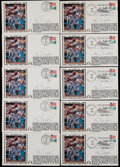 Baseball Collectibles:Others, Ken Griffey Jr. (10) and Ken Griffey Sr. (10) Signed First DayCovers Lot of 20....