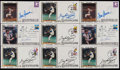 Autographs:Post Cards, Tom Seaver and Gaylord Perry Signed First Day Covers Lot of 9 and 9Unsigned....