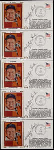 Baseball Collectibles:Others, Whitey Ford Signed First Day Covers Lot of 5....