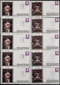 Autographs:Letters, 1981 Steve Carlton Signed First Day Covers....