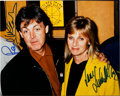 Music Memorabilia:Autographs and Signed Items, Beatles - Paul and Linda McCartney Signed Color Photo....
