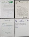 Baseball Collectibles:Others, Dodgers and MLB Signed Letters Lot of 7....