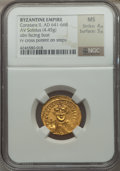 Ancients:Byzantine, Ancients: Constans II Pogonatus (AD 641-668). AV solidus (4.43gm)....
