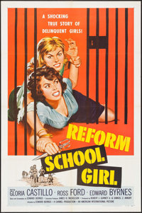 "Reform School Girl (American International, 1957). One Sheet (27"" X 41""). Bad Girl"