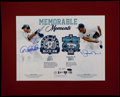 Baseball Collectibles:Photos, Derek Jeter and Mariano Rivera Multi Signed Oversized Print....