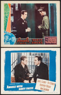 "Movie Posters:Crime, Angels with Dirty Faces (Warner Brothers, 1938). Other CompanyLobby Card & Lobby Card (11"" X 14""). Crime.. ... (Total: 2Items)"