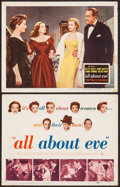 "Movie Posters:Academy Award Winners, All About Eve (20th Century Fox, 1950). Title Lobby Card and Lobby Card (11"" X 14""). Academy Award Winners.. ... (Total: 2 Items)"