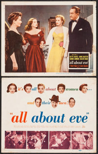 "All About Eve (20th Century Fox, 1950). Title Lobby Card and Lobby Card (11"" X 14""). Academy Award Winners..."