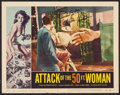 """Movie Posters:Science Fiction, Attack of the 50 Foot Woman (Allied Artists, 1958). AutographedLobby Card (11"""" X 14""""). Science Fiction.. ..."""