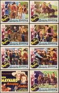"""Movie Posters:Western, Avenging Waters (Columbia, 1936). Lobby Card Set of 8 (11"""" X 14""""). Western.. ... (Total: 8 Items)"""
