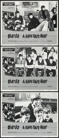 "Movie Posters:Rock and Roll, A Hard Day's Night (Universal, R-1982). Lobby Cards (3) (11"" X14""). Rock and Roll.. ... (Total: 3 Items)"