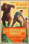 "Movie Posters:Adventure, Mark of the Gorilla (Columbia, Early 1950s). Argentinean One Sheet (29"" X 43""). Adventure.. ..."