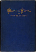 Books:Literature Pre-1900, [Association Copy]. [Clement Biddle]. INSCRIBED. Edwin andElvira. Sketches of Travel and Other Poems. Philadelphia:...