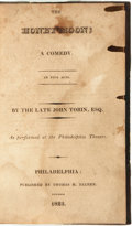 Books:Literature Pre-1900, [Theatre & Stage]. Bound Volume of Various Plays. Includes:John Tobin. The Honeymoon; a Comedy. In Five Acts. P...