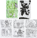 "Original Comic Art:Sketches, Gary Panter ""Pee-wee Herman"" Sketchbook Original Art (c. 2005-06)...."