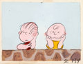 Animation Art:Production Drawing, Peanuts It's the Great Pumpkin, Charlie Brown Linus andCharlie Brown Storyboard/Concept Drawing Original Art (Bil...