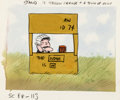 Animation Art:Production Drawing, Peanuts It's a Mystery, Charlie Brown Lucy Storyboard/Concept Drawing Original Art (Bill Melendez, 1974)....