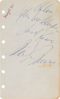 Movie/TV Memorabilia:Autographs and Signed Items, A Marilyn Monroe Funny Signature, 1955....