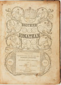 Books:Periodicals, [Bound Periodicals, Humor]. Brother Jonathan, Vol. I. January 1 - April 23, 1842. New York: Wilson & Company, 18...
