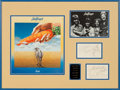 Music Memorabilia:Autographs and Signed Items, Badfinger Original Group Signatures in Framed Display....