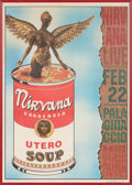 Music Memorabilia:Posters, Nirvana Palaghiaccio Limited-Edition Italian Concert Poster,Numbered 752/1000 (Rome, 1994)....