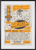 Music Memorabilia:Autographs and Signed Items, B.B. King's Blues Club - Kim Wilson, Rufus Thomas, & OthersSigned Poster (1995)....