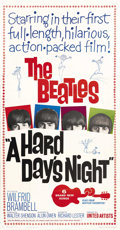 "Movie Posters:Rock and Roll, A Hard Day's Night (United Artists, 1964). Three Sheet (41"" X 81"")...."