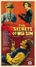 "Movie Posters:Mystery, The Secrets of Wu Sin (Chesterfield, 1932). Three Sheet (41"" X81""). ..."