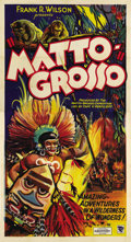 "Movie Posters:Documentary, Matto Grosso (Sol Lesser, 1933). Three Sheet (41"" X 81"") and LobbyCards (2) (11"" X 14""). ... (Total: 3 Items)"
