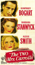 "Movie Posters:Film Noir, The Two Mrs. Carrolls (Warner Brothers, 1947). Three Sheet (41"" X81""). ..."