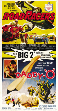"Daddy ""O""/RoadRacers Combo (American International, 1958). Three Sheet (41"" X 81"")"
