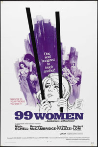 "99 Women (Commonwealth United, 1968). One Sheet (27"" X 41""). Cult favorite Jesus Franco directs this standard..."