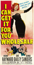 "Movie Posters:Drama, I Can Get It for You Wholesale (20th Century Fox, 1951). ThreeSheet (41"" X 81""). ..."