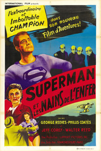 """Superman and the Mole Men (Lippert, 1951). French Poster (32"""" X 47"""")"""