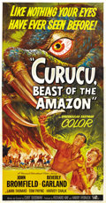 "Movie Posters:Horror, Curucu, Beast of the Amazon (Universal International, 1956). ThreeSheet (41"" X 81""). ..."