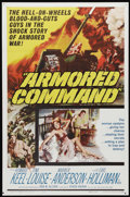 "Movie Posters:War, Armored Command (Allied Artists, 1961). One Sheet (27"" X 41""). TinaLouise is a spy for the Germans during WWII, reporting o..."