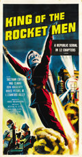"Movie Posters:Serial, King of the Rocket Men (Republic, R-1956). Three Sheet (41"" X 81"")...."