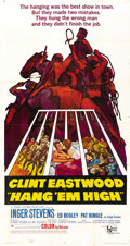 "Movie Posters:Western, Hang 'Em High (United Artists, 1968). Three Sheet (41"" X 81""). Western...."
