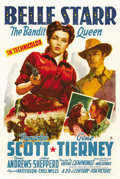"""Movie Posters:Western, Belle Starr (20th Century Fox, 1941). One Sheet (27"""" X 41""""). ..."""