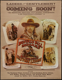 "Buffalo Bill and the Indians, or Sitting Bull's History Lesson (United Artists, 1976). Advance One Sheet (27"" X 41&..."