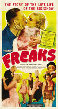 "Movie Posters:Horror, Freaks (MGM, R-1949). Three Sheet (41"" X 81"")...."