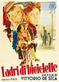 "The Bicycle Thief (Ente Nazionale Industrie Cinematografiche (ENIC), 1948). Italian 2 - Folio (39"" X 55"")"